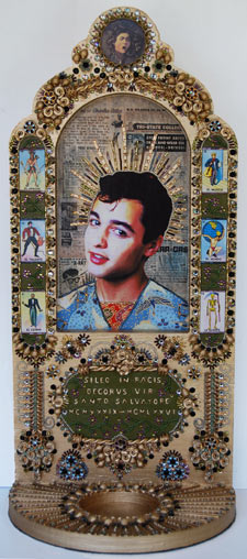 St. Salvatore Icon Sculpture of Sal Mineo by Heidi Sanna